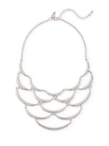 Scallop Statement Necklace  - New York & Company