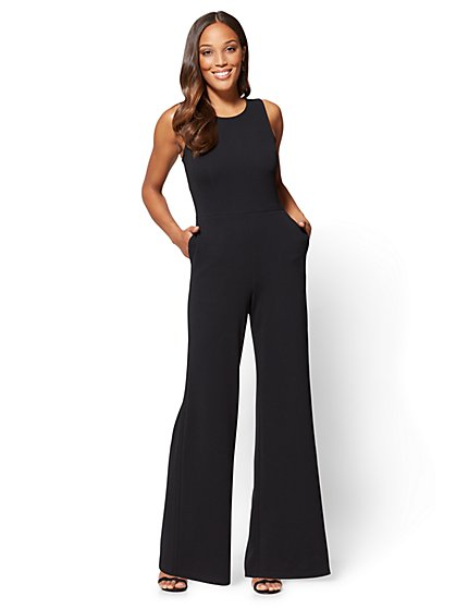Scoopneck Jumpsuit - Black - New York & Company