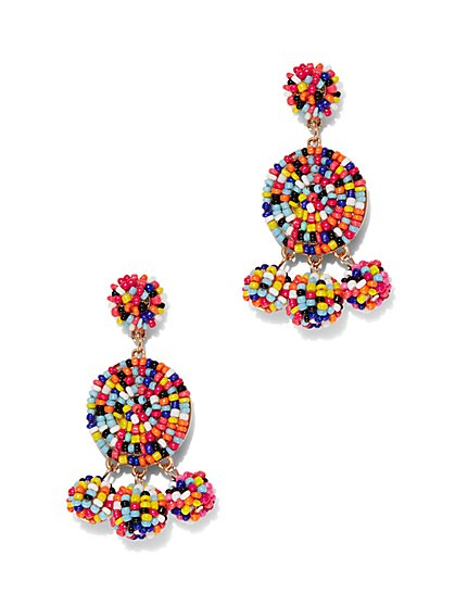 Seed Bead Circular Drop Earring - New York & Company