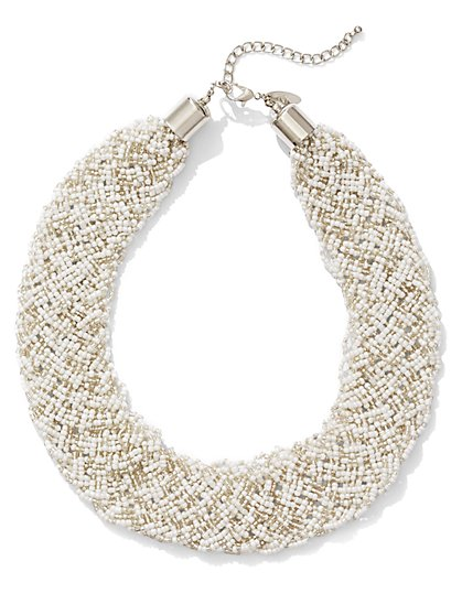 Seed Bead Collar Necklace  - New York & Company