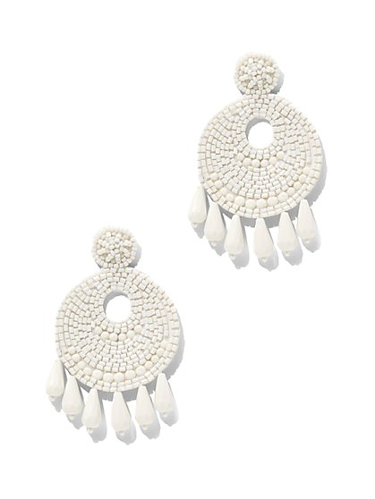 Seed Bead Drop Earring - New York & Company