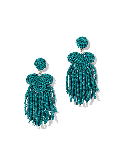 Seed Bead Fringe Drop Earring - New York & Company