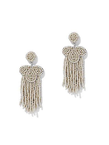 Seed Bead Statement Drop Earring - New York & Company