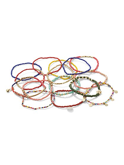 Seed Bead Stretch Bracelet Set  - New York & Company