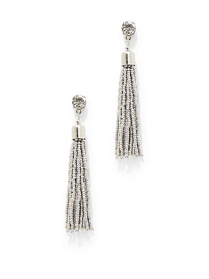 Seed Bead Tassel Drop Earring  - New York & Company