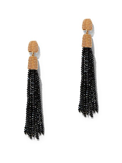Seed Bead Tassel Drop Earring  - New York & Company