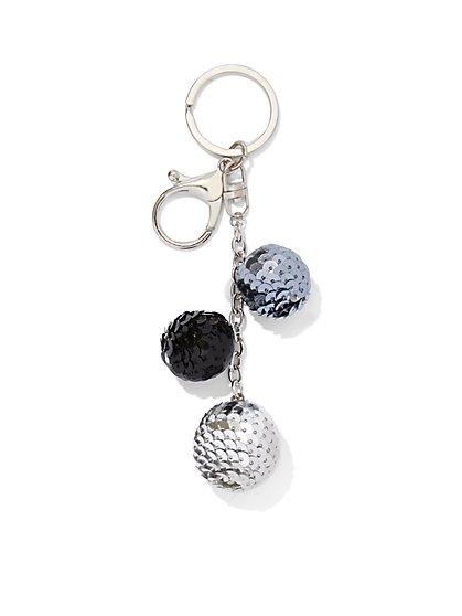 Sequin Sphere Handbag Charm  - New York & Company
