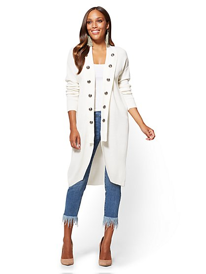 Shawl-Collar Duster Cardigan - New York & Company