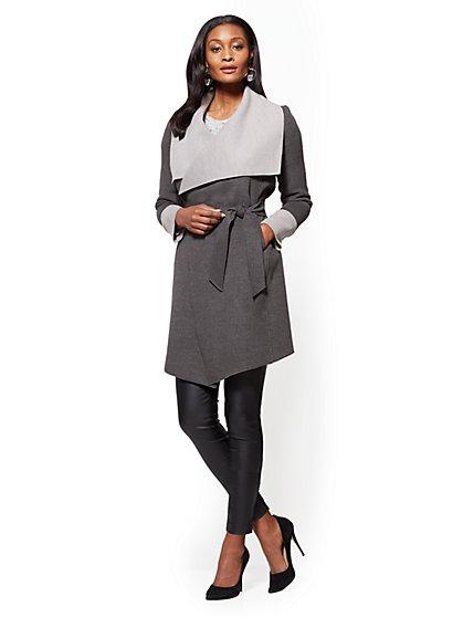 Shawl-Collar Wrap Coat - New York & Company