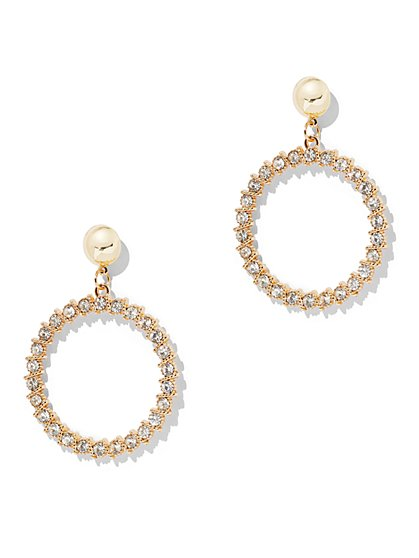 Shining Crystal Hoop Earring - New York & Company