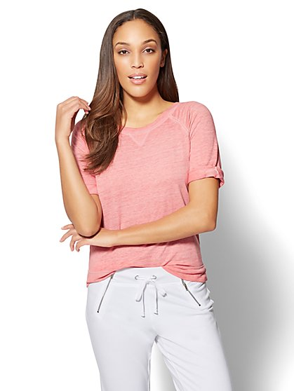 Short-Sleeve Sweatshirt - New York & Company
