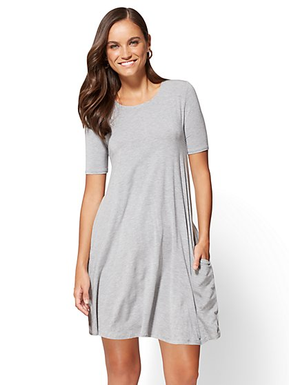 Short-Sleeve Swing Dress  - New York & Company