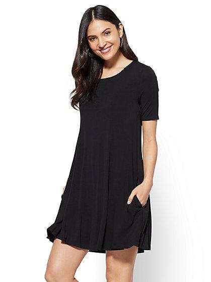 Short-Sleeve Swing Dress - New York & Company