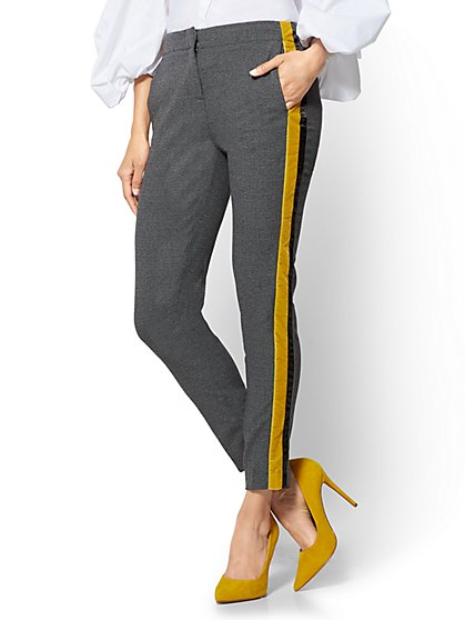 Side-Stripe Ankle Pant  - New York & Company