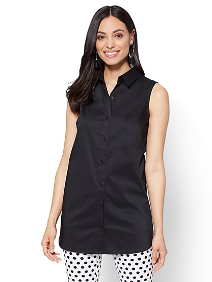 Side-Vent Tunic Shirt  - New York & Company