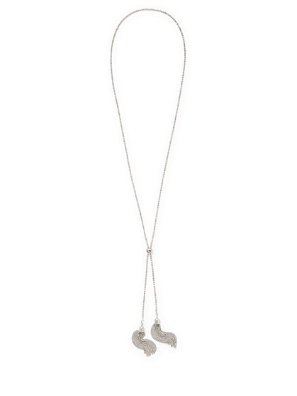 Silvertone Lariat Necklace  - New York & Company