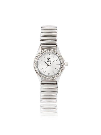 Silvertone Pave Watch - New York & Company