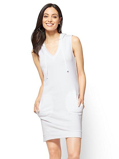 Sleeveless Hoodie Dress - New York & Company