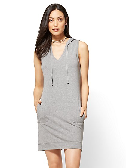 Sleeveless Hoodie Dress - New York & Company
