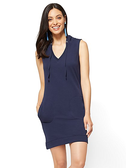 Sleeveless Hoody Shift Dress - New York & Company