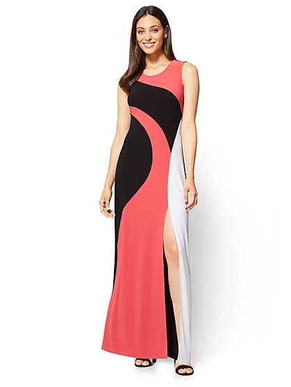 Sleeveless Maxi Dress - Colorblock - New York & Company
