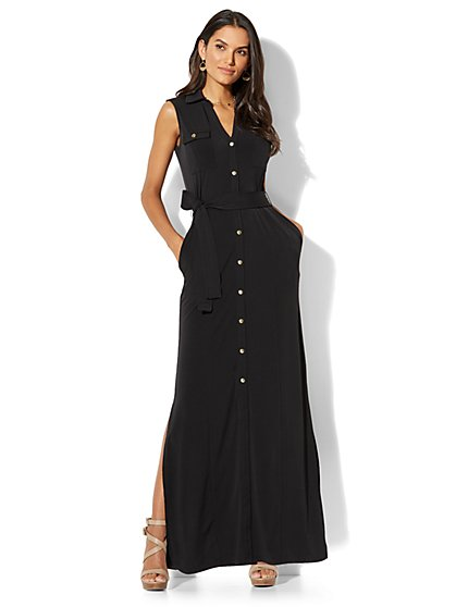 Sleeveless Maxi Shirtdress - New York & Company