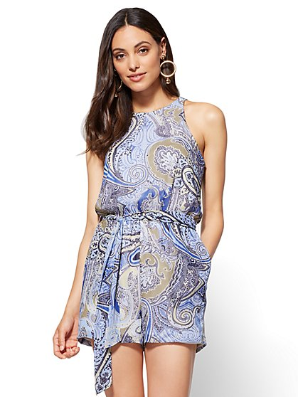 Sleeveless Romper - Paisley - New York & Company