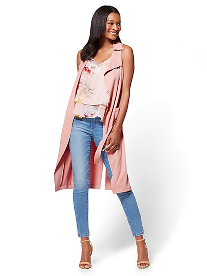 Sleeveless Trench Coat - New York & Company