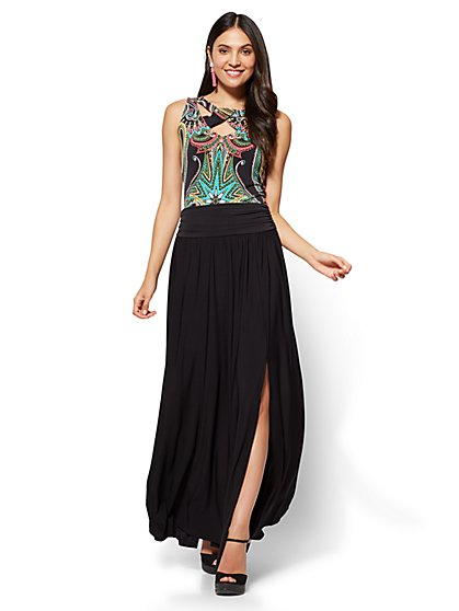 Slit-Front Maxi Skirt - Petite - New York & Company