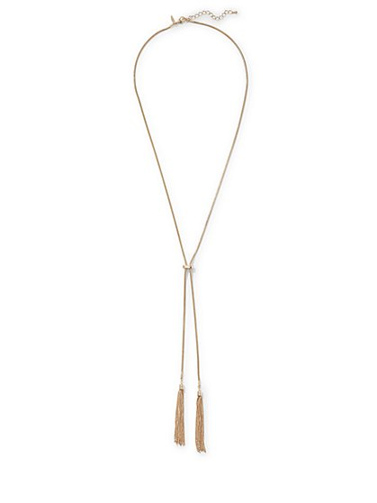 Snake-Chain Lariat Necklace  - New York & Company