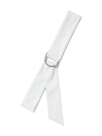 Soft Faux-Leather Belt - New York & Company