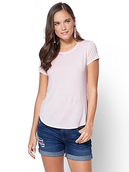 Soft Soft Tee - Crewneck - New York & Company