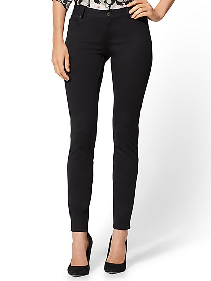 Soho Jeans - 5-Pocket Legging - Ponte - New York & Company