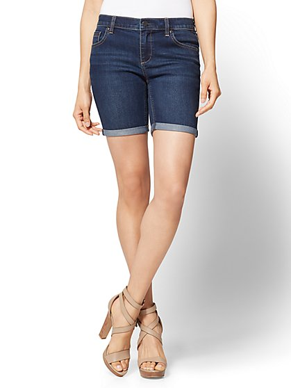 Soho Jeans - 7 Inch Boyfriend Short - Dark Tide Wash - New York & Company