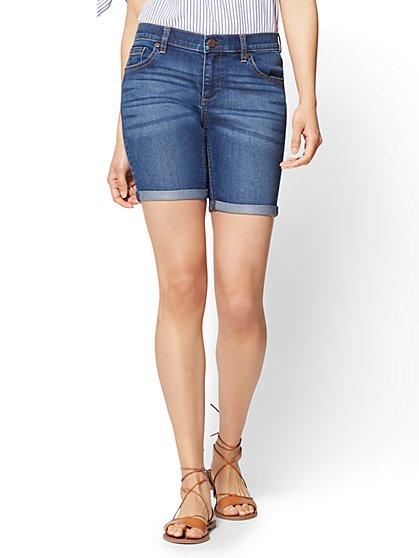 Soho Jeans - 7 Inch Short - Force Blue Wash - New York & Company