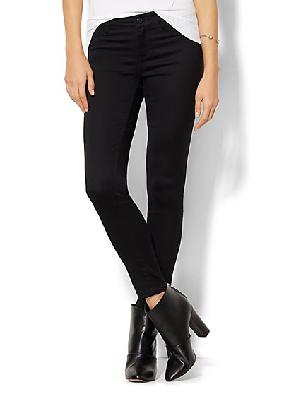 Soho Jeans - Ankle SuperStretch Legging - Black  - New York & Company