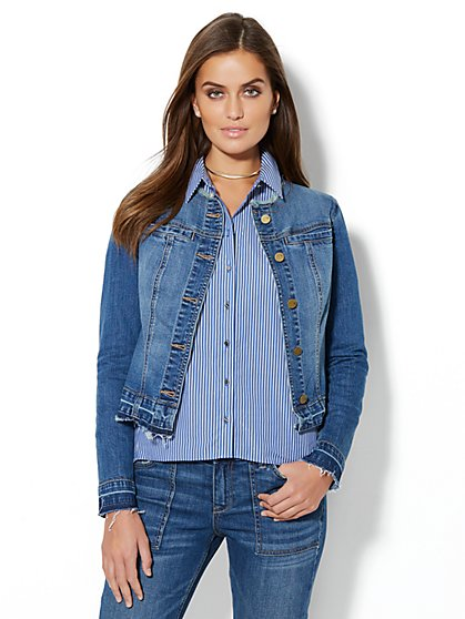 Soho Jeans - Bird-Accent Denim Jacket - New York & Company
