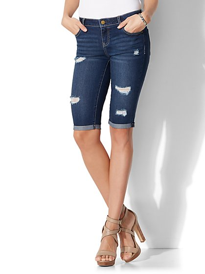 Soho Jeans - Bowery Bermuda Short - Blue Craze Wash - New York & Company