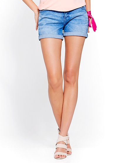 Soho Jeans - Boyfriend Short - Vibrant Blue Wash - New York & Company