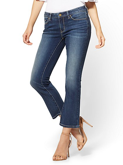 Soho Jeans - Cropped Bootcut - Blue Craze Wash - New York & Company