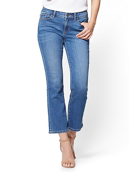 Soho Jeans - Cropped Bootcut - Razor Blue Wash - New York & Company