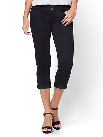 Soho Jeans - Cropped Boyfriend - Black - New York & Company