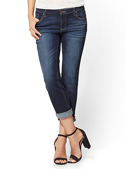 Soho Jeans - Cropped Boyfriend - Deep End Blue - New York & Company