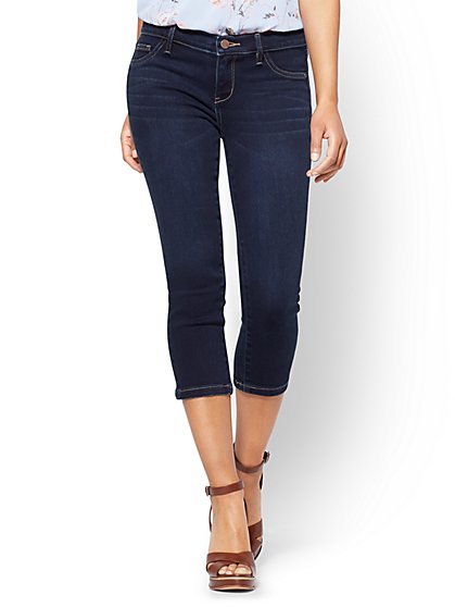 Soho Jeans - Cropped Legging - Blue Hustle Wash - New York & Company