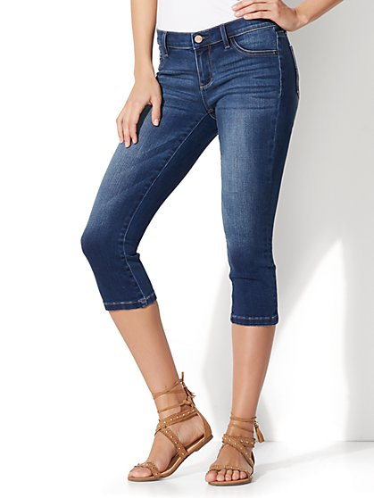 Soho Jeans - Cropped Legging - Force Blue Wash - New York & Company