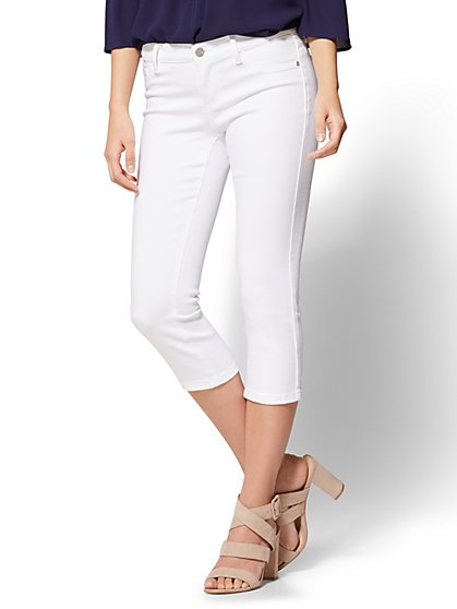 Soho Jeans - Cropped Legging - White - New York & Company