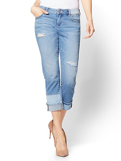 Soho Jeans - Cropped Repair Boyfriend - New York & Company