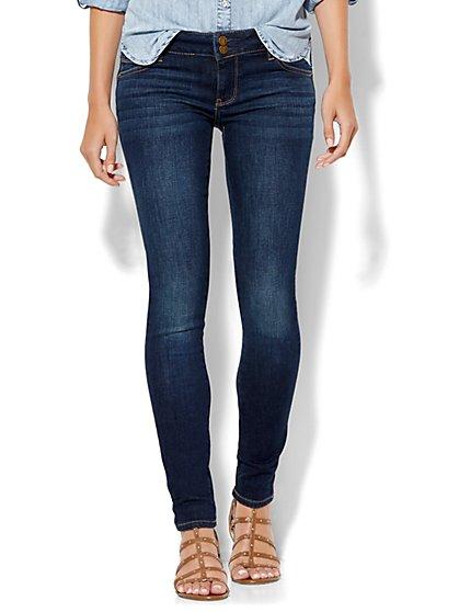 Soho Jeans - Curve-Creator Legging - Flawless Blue Wash - Petite - New York & Company
