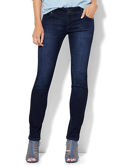 Soho Jeans - Curve Creator Skinny - Endless Blue Wash - Petite - New York & Company