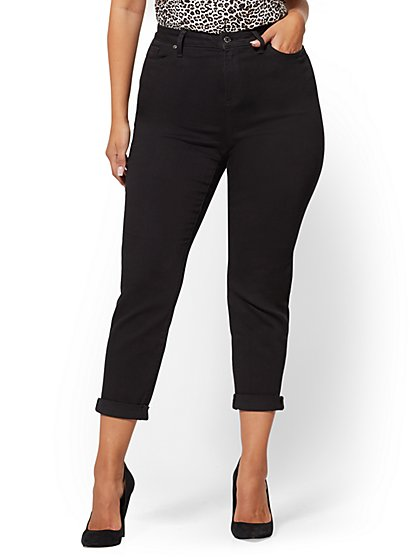 Soho Jeans - Curvy Boyfriend - Black  - New York & Company